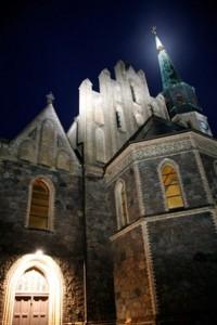 Oderberger Kirche am Abend