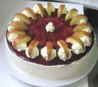 Holunder-Apfel-Torte
